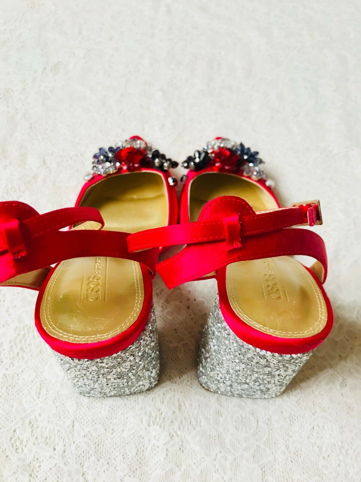 En Bottes Rouge Cuir Chaussures Soldes Bois Talons 40 Valentino qwzZPE