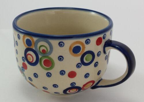 UNIKAT modern, F044-AS38 0,45L Milchcafe Cafe Latte Bunzlauer Keramik Tasse