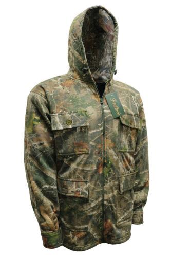 Mens New Thick Realtree Fleece Jacket Jungle Print Hunting Fishing Coat M-6XL