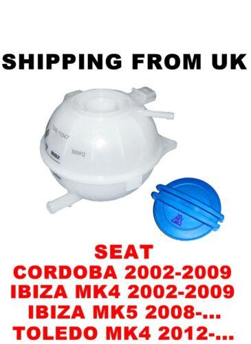Refrigerante refrigeración tanque de expansión Contenedor PAC Seat Cordoba Toledo 4 Ibiza Mk4 Mk5