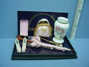 Dollhouse Miniature Ladies Accessory Set #.445/8 Reutter Porcelain 1/12th Scale