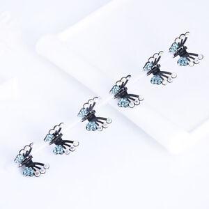 Eg-6-Pieces-Doux-Filles-Chapeau-Papillon-Strass-Mini-Pinces-a-Cheveux-D-039-Arret