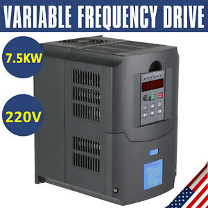 TOP 7.5KW 220V 10HP 34A VFD VARIABLE FREQUENCY DRIVE INVERTER CE QUALITY 832419275461
