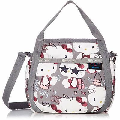 Hello Kitty LeSportsac Shoulder Bag SMALL JENNI Gray SANRIO w// Tracking NEW