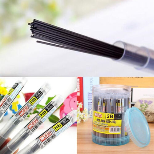 Lots 2B//HB Black Lead Refills 0.5//0.7mm Case For Automatic Mechanical Pencil