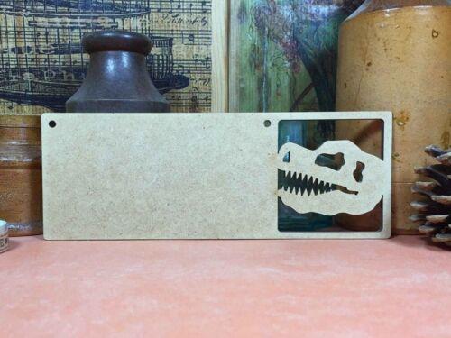 x3 DINOSAUR SKULL FOSSIL WOODEN MDF SIGN bones wood shape plaque hanger signs
