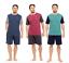 Mens-Pyjama-Set-Short-Sleeve-Top-Pants-Summer-Pjs-cotton-mix-PYJAMAS thumbnail 1