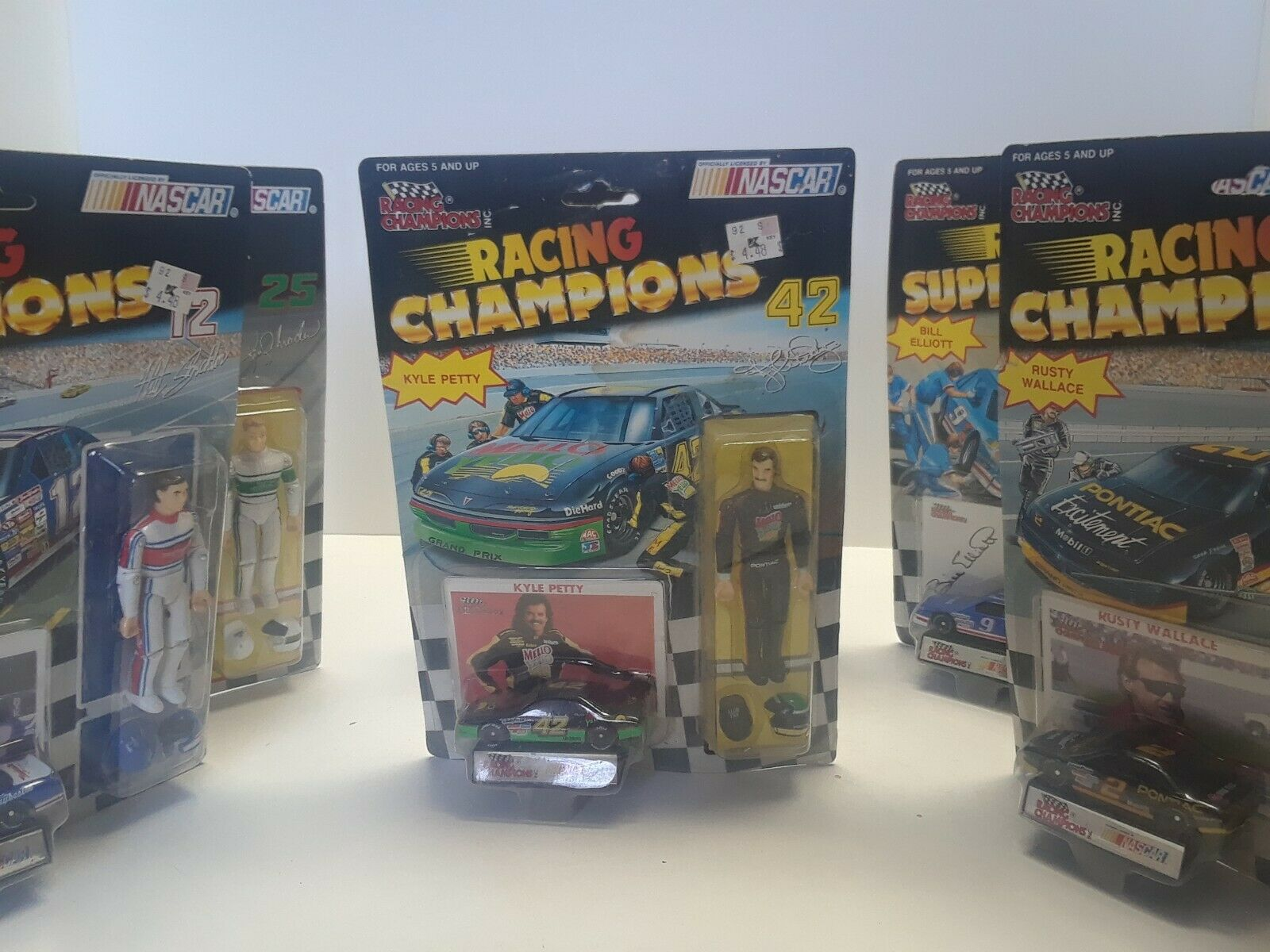 Racing Champions Superstars figures NASCAR set of of 6 w  cars