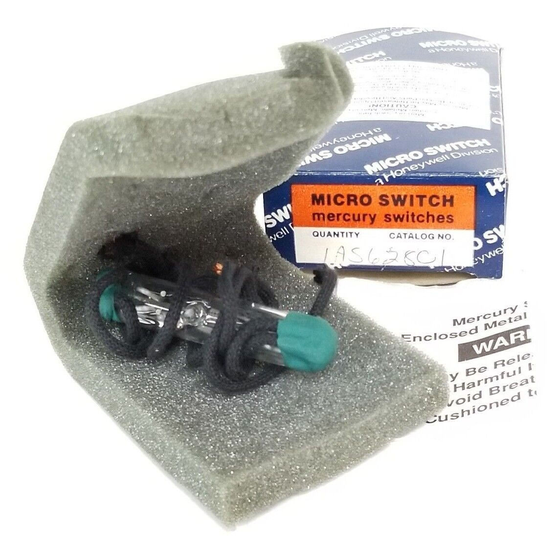 NIB HONEYWELL MICRO SWITCH AS628C1 MERCURY SWITCH 10-91, 1AS628C1