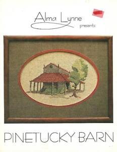 Alma-Lynne-PINETUCKY-BARN-1980-Vintage-Cross-Stitch-Pattern-Booklet