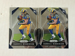 DARRELL HENDERSON LOT OF 2 2019 Panini Prizm ROOKIE BASE RC's #330! HUGE SALE!