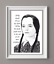 Wednesday Addams Print,The Addams Family Art,motivational quote,celebrity art
