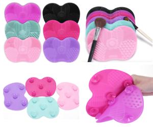 Lavador-De-Cosmeticos-Maquillaje-Cepillo-Limpiador-de-Silicona-Board-Mat-Pad-limpieza-de-herramienta