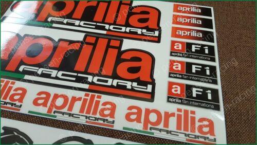 aprilia Factory Racing Motorcycle Laminated Decals Stickers Akrapovic Myhos Kit