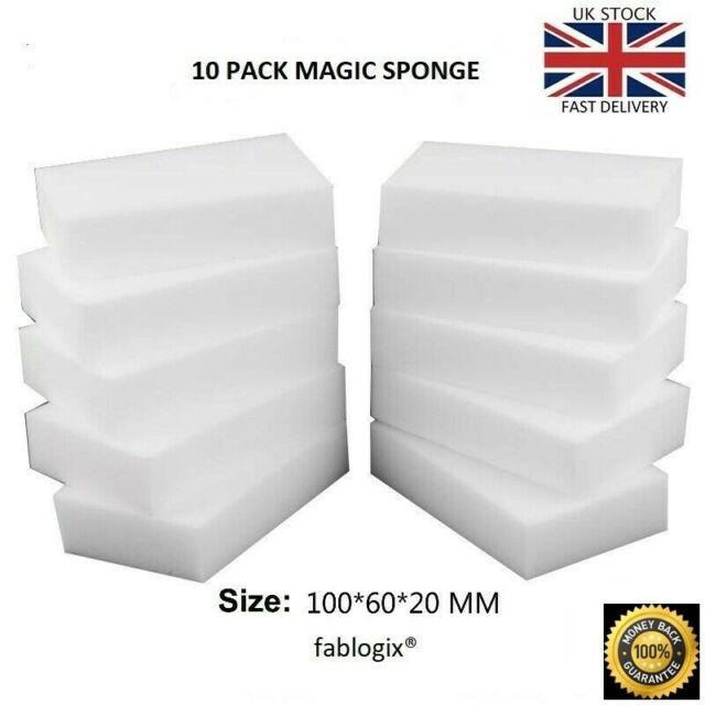Magic Sponge eraser sponges  x 10  Melamine Foam Stain Dirt Remover fablogix®