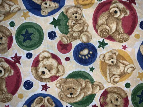 Nuevo 100/% algodón Boyds Bears Quilting fabric vendido por yarda media