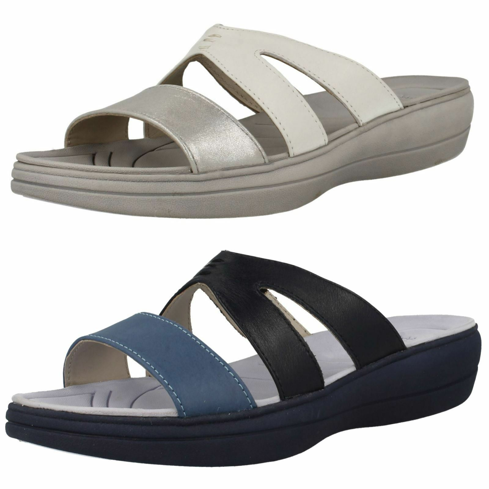 Último gran descuento Ladies Padders Slip On Open Toe Leather Mule Sandals Charlie