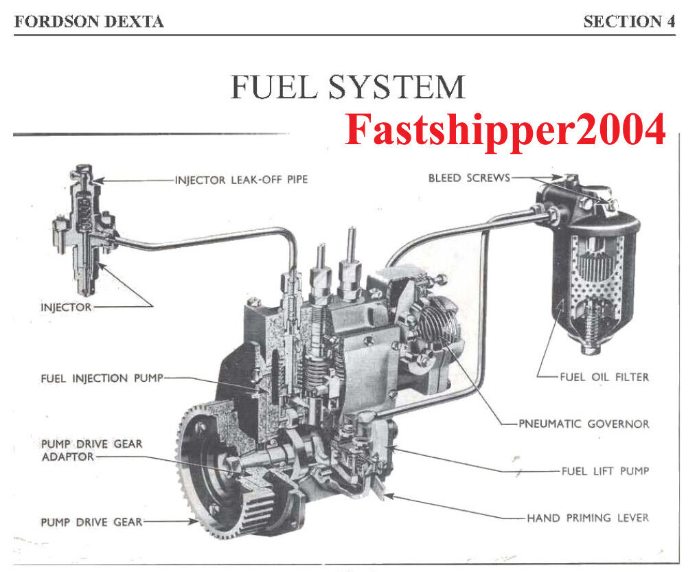 fordson dexta fuel diagram