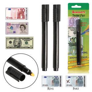 2x-Geldscheinpruefstift-Geldscheinpruefer-Falschgeld-Geldscheinpruefgeraet-Stift