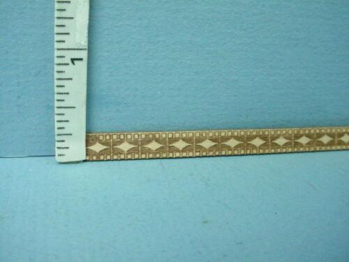 """Dollhouse Miniature Decorative Trim 1//4/"""" x 12/"""" J Laser Etched Strip"""