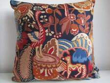 Liberty Morris Haughton Blue Vintage Floral & Navy Velvet Fabric Cushion Cover