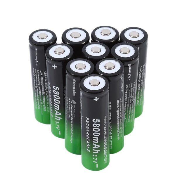 10Pcs Rechargeable 18650 Batteries 1200mAh 3.7V Rechargeable Batteries MG