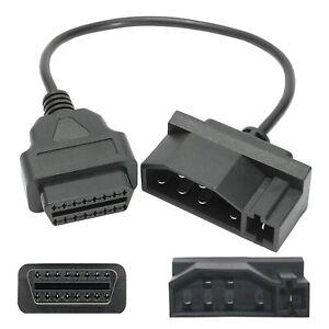 F90C 40cm Adaptador de Cable para Coche Ford 7-Pin OBD 16-Pin OBD2 Can Diagnosis