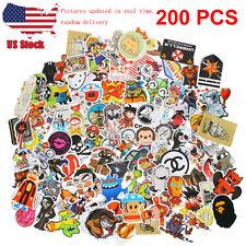 200pcs Random music film Vinyl Skateboard Guitar Travel Case pack sticker decals