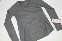 Be Maternity Be Active V-neck Top Shirt Ruched Gray Size L Yoga Running