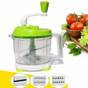Image Is Loading Manual Food Processor Hand Operated Vegetable Chopper  Kitchen