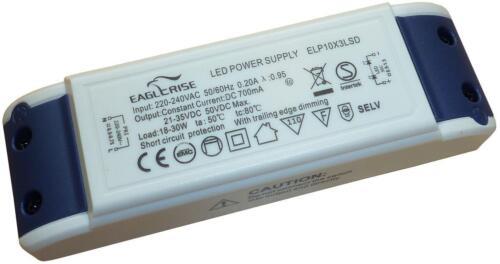 █► Eaglerise elp10x3lsd DEL transformateur variateur 700 mA 10 x 3 W pour HIGH POWER DEL/'s
