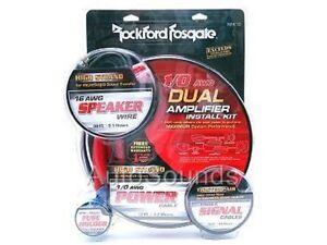 Rockford-Fosgate-RFK1D-DUAL-AMP-1-0-AWG-Amplifier-WIRING-KIT-True-Gauge