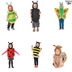 GIRLS-BOYS-KIDS-CHILDRENS-INSECT-MINIBEAST-BUG-BALL-FANCY-DRESS-COSTUME-AGE-3-7