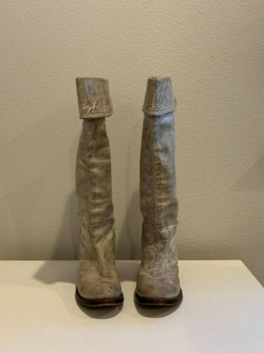 Frye Womens Over-The-Knee Cream Boots, Size 8