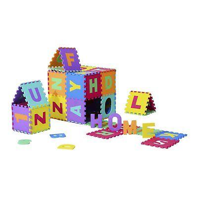 HOMCOM  Tappeto da Gioco 36 Pezzi Puzzle con Lettere dell'Alfabeto e Numeri
