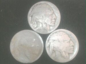 1916-P-D-amp-S-Buffalo-Nickels-GREAT-FILLERS-SHIPS-FREE-TAKE-A-LOOK