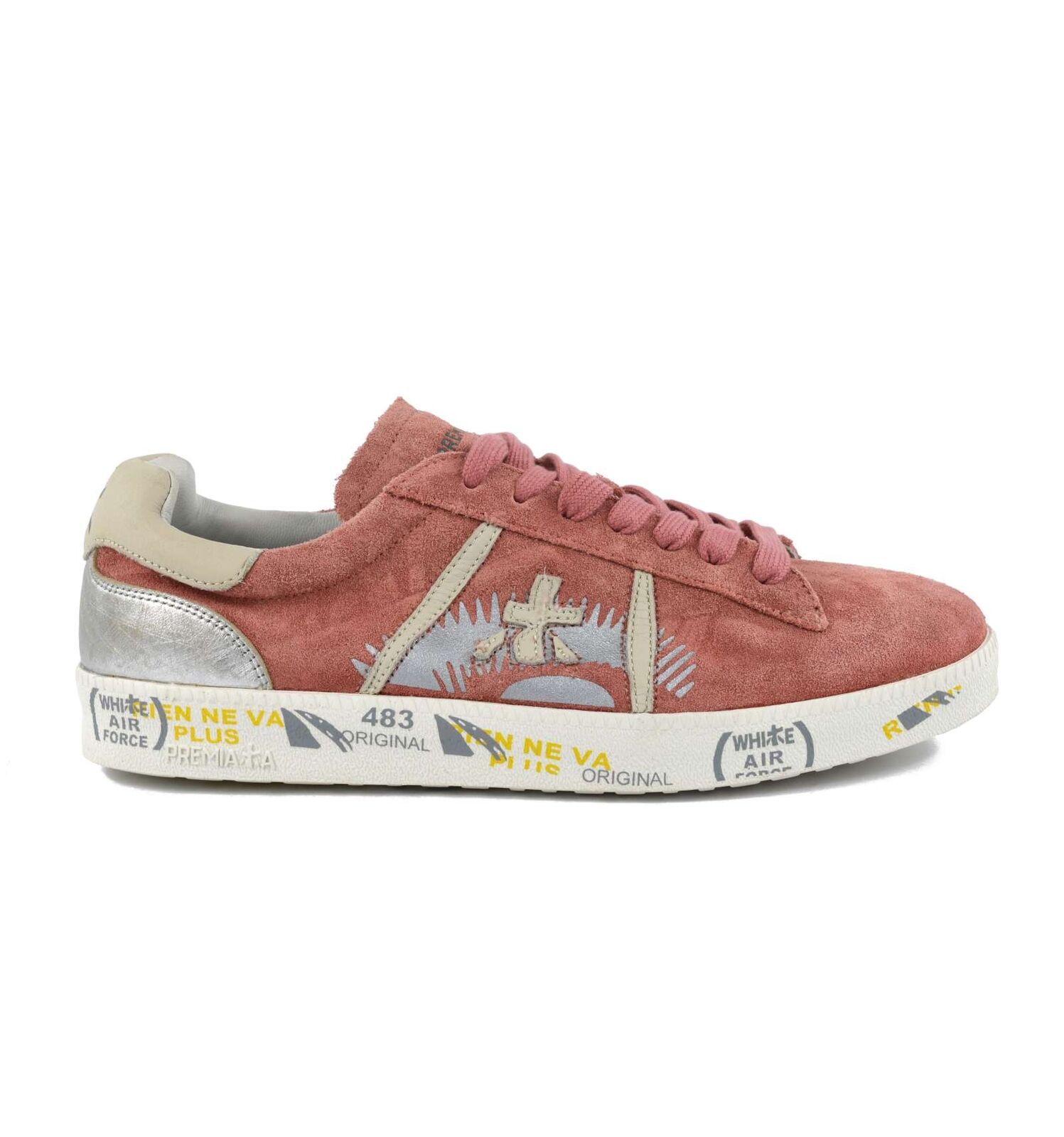 Premiata Woman Andy-Q 3078 shoes Sneakers Suede Vintage Pink