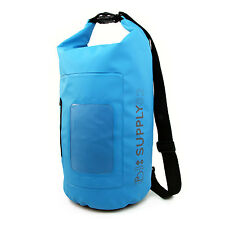 Buhbo Waterproof Dry Bag for Kayak Canoe Backpack Duffle, 15 Liters Blue