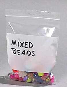 200-4-x-6-Ziplock-Bags-w-White-Block-Jewelry-Clear-Poly-Plastic-2-MIL-4-034-x6-034