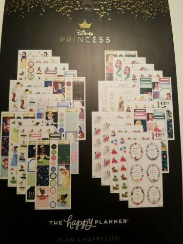 Classic Size #607 Disney Princesses Happy Planner Sticker