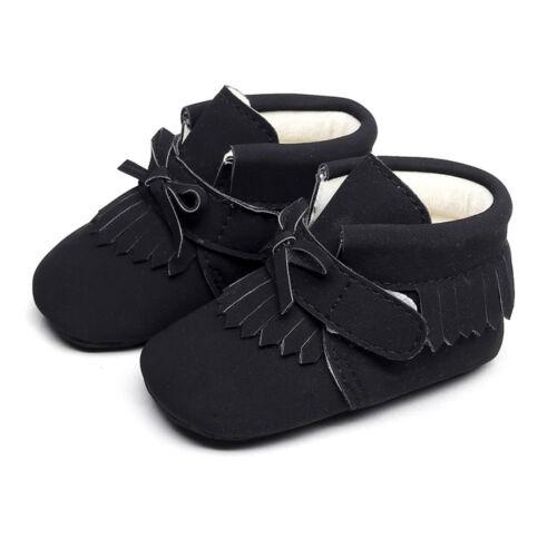 Baby Boy Girls Winter Warm Boots Newborn Toddler Soft Sole Prewalker Casual Shoe