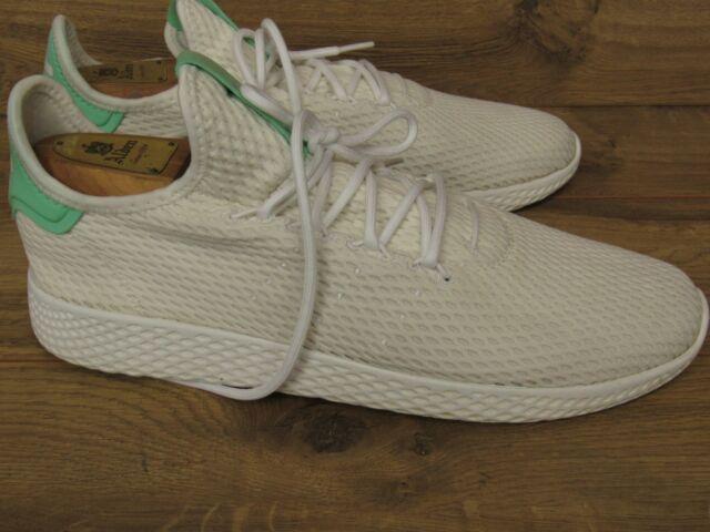 big sale 7ac2d 6d478 Adidas Pharrell Williams Tennis Hu Human Race White Green Glow Sneakers  Mens 11