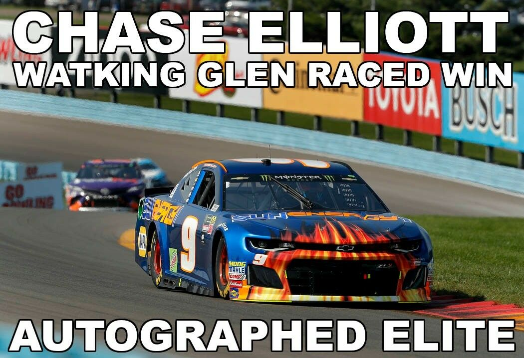 Elite Autografiado Chase Elliott Watkins Glen corrió ganar CEM Exclusivo