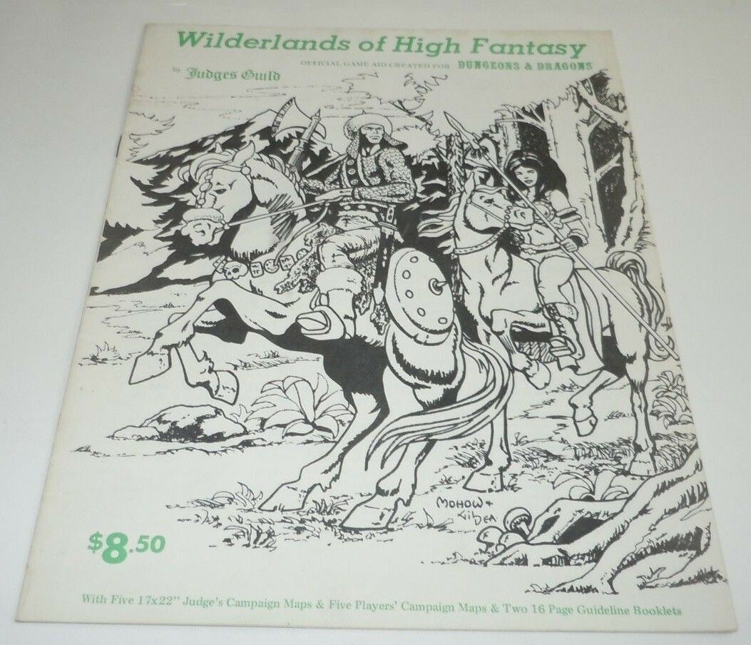 Wilderlands de alta fantasía judges Guild 1977 mapas no libro Dungeons & Dragons