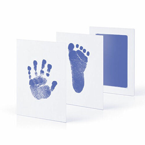 Baby Newborn DIY Handprint Footprint Imprint Clean Touch Ink Pad Photo Frame Kit