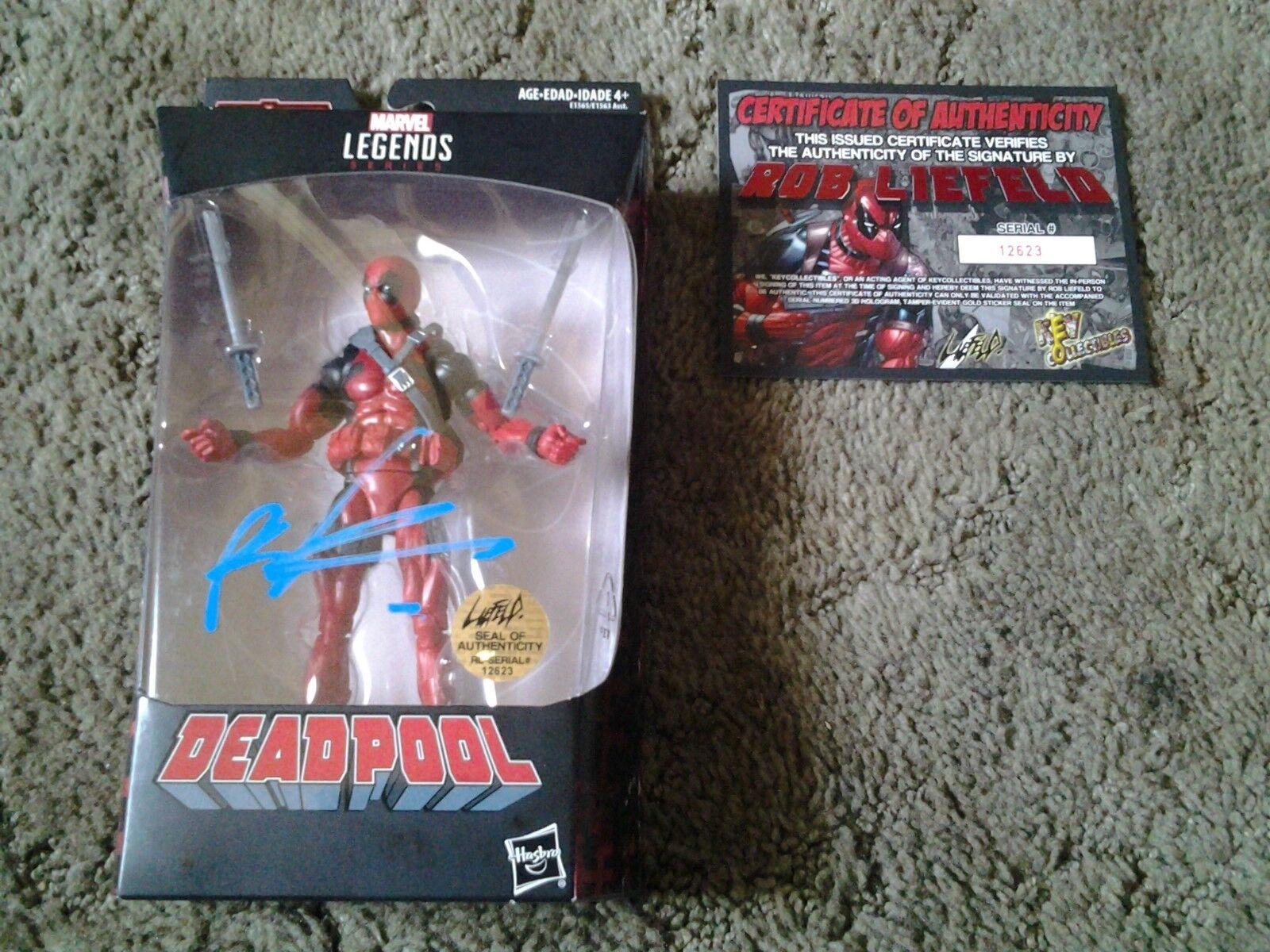 2018 Hasbro Marvel Legends Deadpool COA Signed Rob Liefeld
