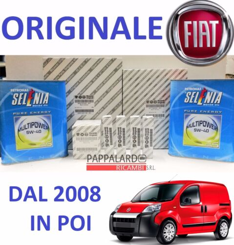 KIT TAGLIANDO CANDELE FIAT FIORINO 1.4 NATURAL POWER METANO OLIO SELENIA GAS