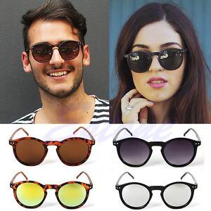 Vintage-Retro-Men-Women-Glasses-Round-Metal-Frame-Mirror-Lens-Sunglasses-Eyewear