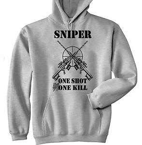 SNIPER-ONE-SHOT-ONE-KILL-1-NEW-COTTON-GREY-HOODIE-ALL-SIZES-IN-STOCK