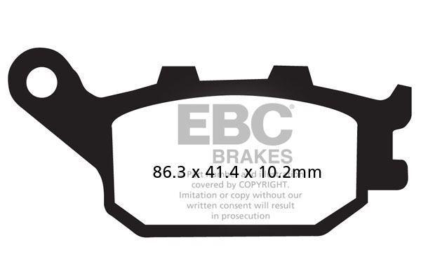 Ajuste Honda CBF 600 N8/ N9/ Na (sin ABS) 08>11 EBC Sinterizadas Pad Set De